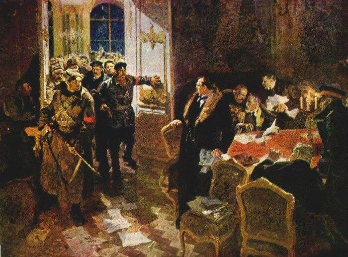 «Арест временного правительства» А.М. Лопухов