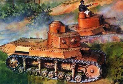 танки Т-24 в бою