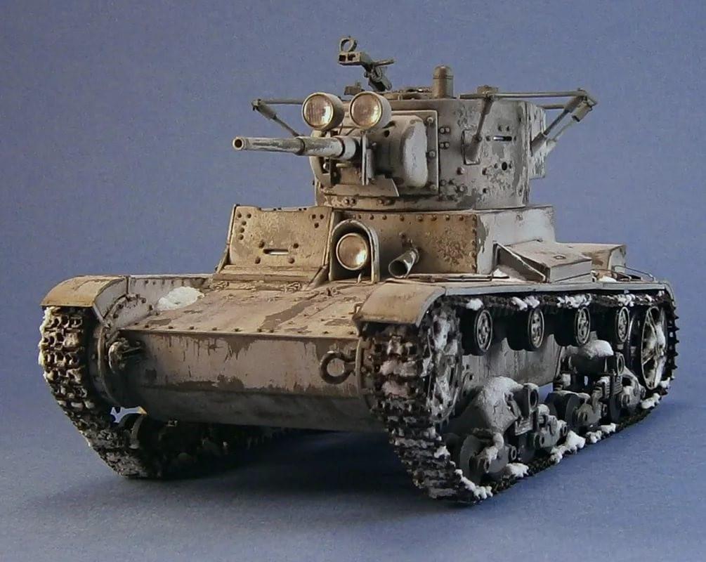 Танк Т-26 однобашенный