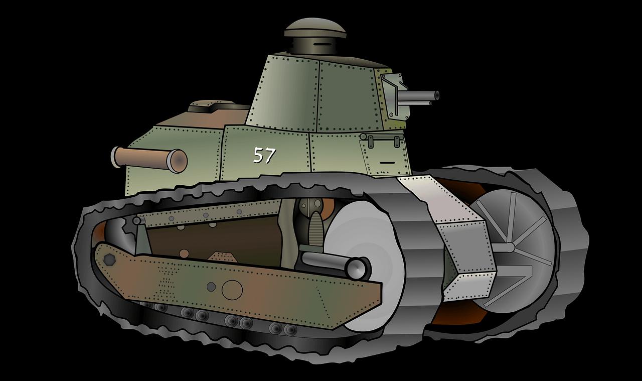 танк Рено-русский 3д модель