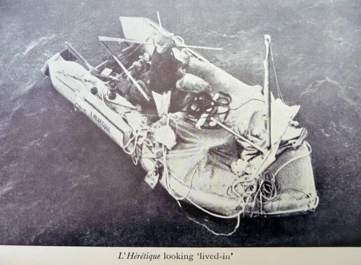 Ален на лодке «Еретик»