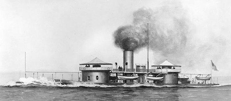 Броненосец «Миантономо» 1865 год