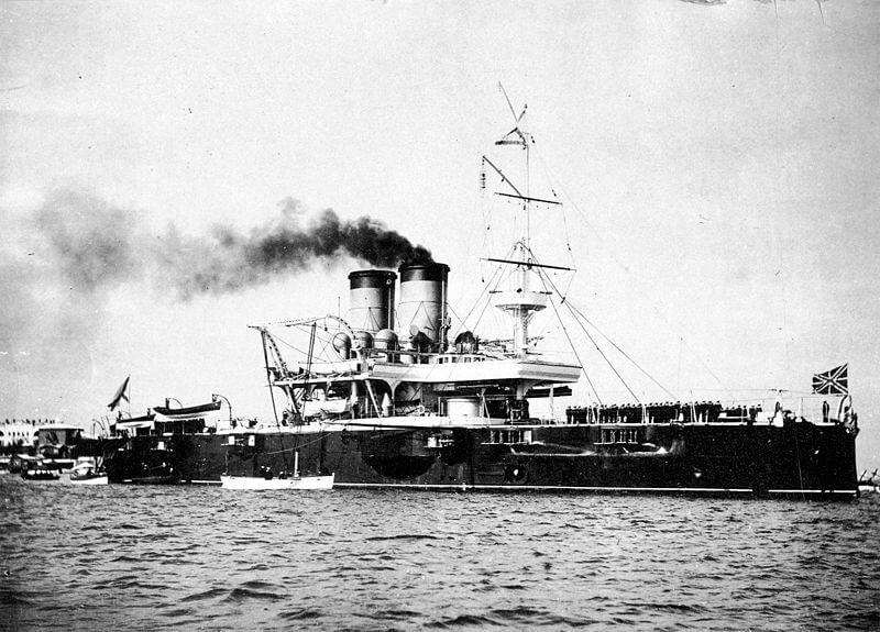Эскадренный броненосец Екатерина II в Севастополе, 1902 год.