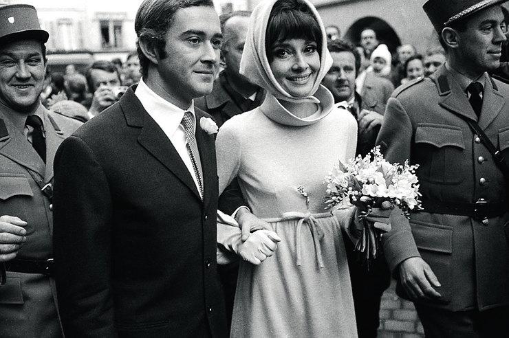 фото Одри с мужем