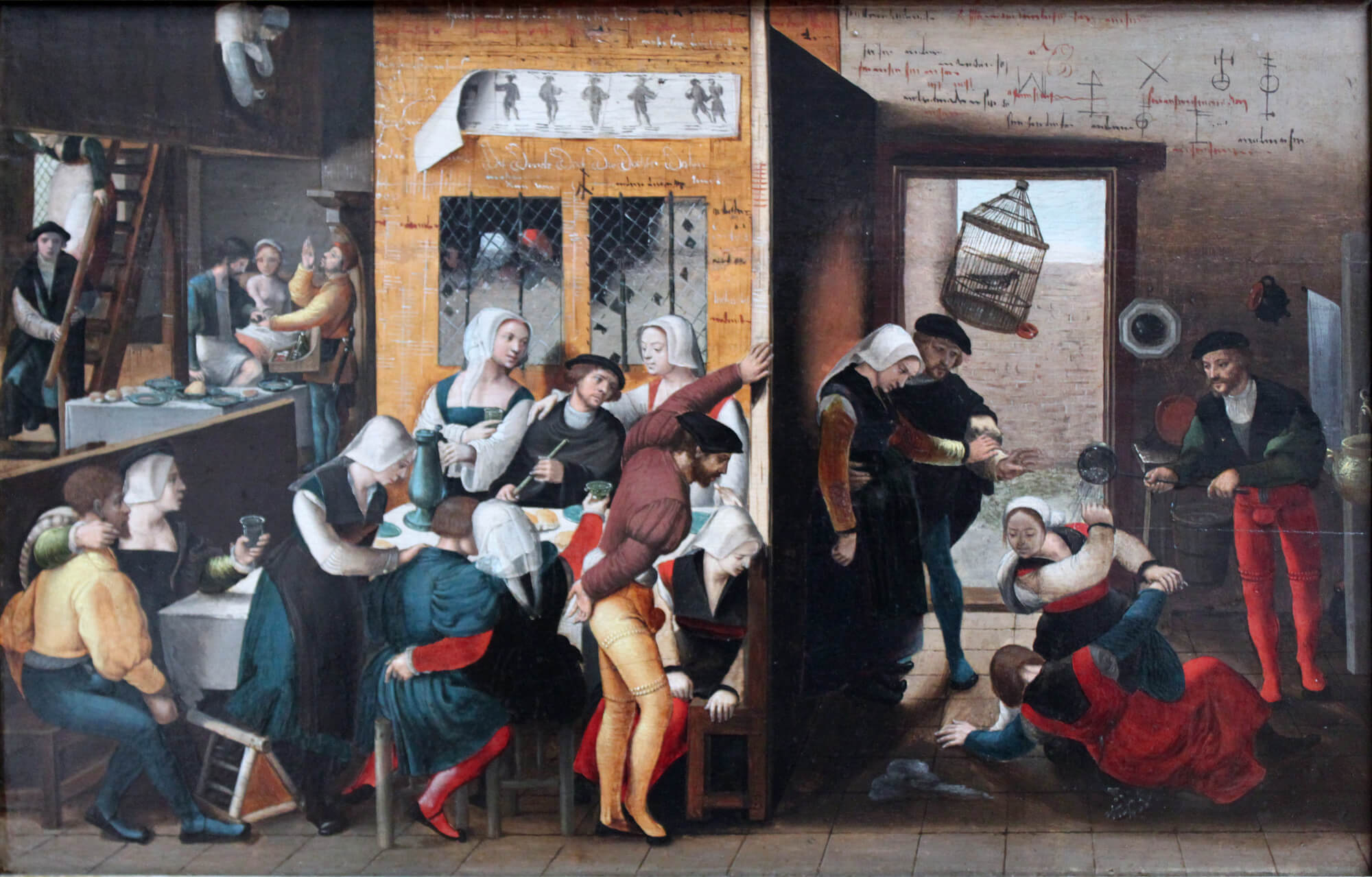 Картина A Merry Company Художник исполнитель Ян ван Хемессен 1540