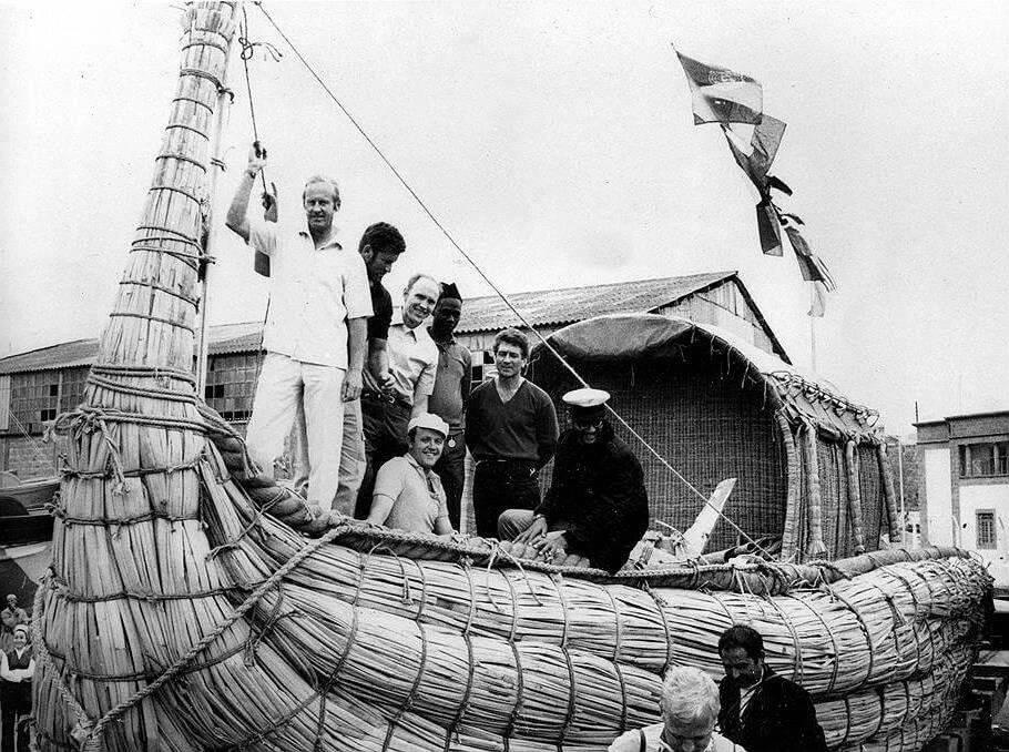 Экспедиция Тура Хейердала на папирусной лодке «Ра-2»