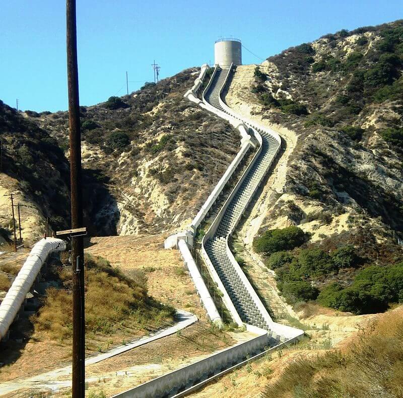 Лос-Анджелесский акведук, проложенный по инициативе У. Малхолланда