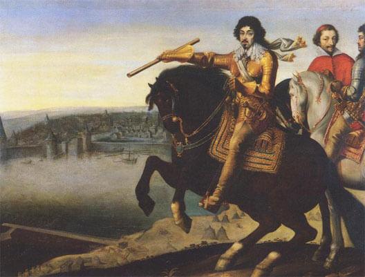 Неизвестный художник. Портрет Людовика XIII и кардинала Ришельё под Ла-Рошелью
