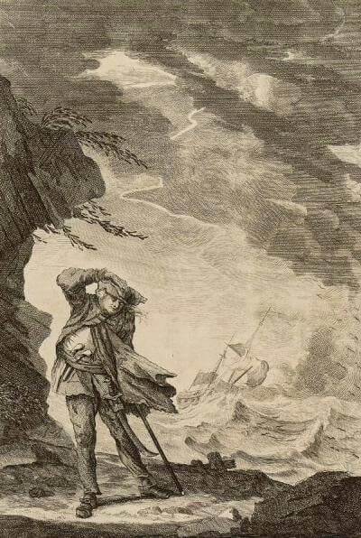 Образ Эдварда лоу. Картина из Национального морского музея в Лондоне.