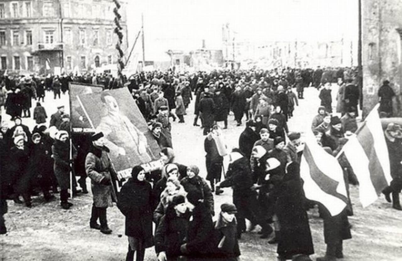оккупированный Минск