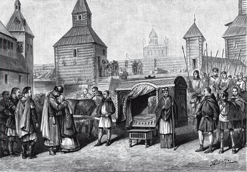 Отъезд княжны Анны Ярославны во Францию для венчания с королём Генрихом I