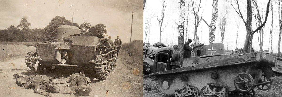 Подбитый Т-37А