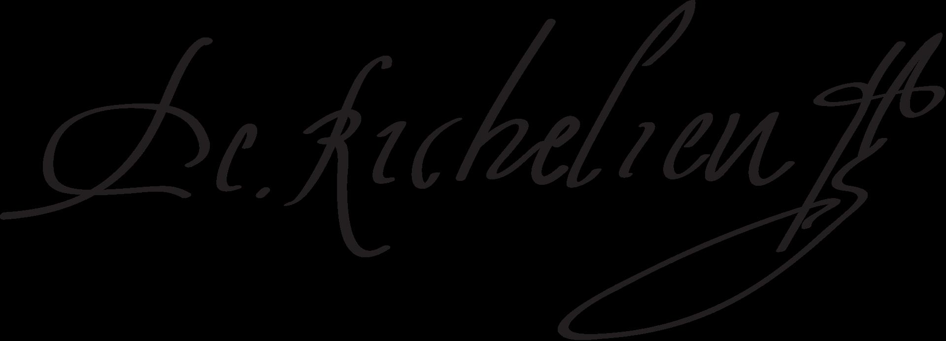 подпись ришелье