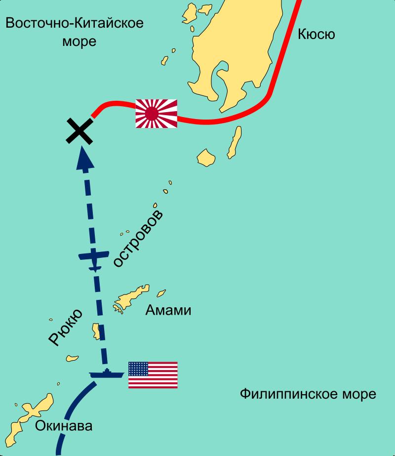 Последний поход «Ямато». Схема