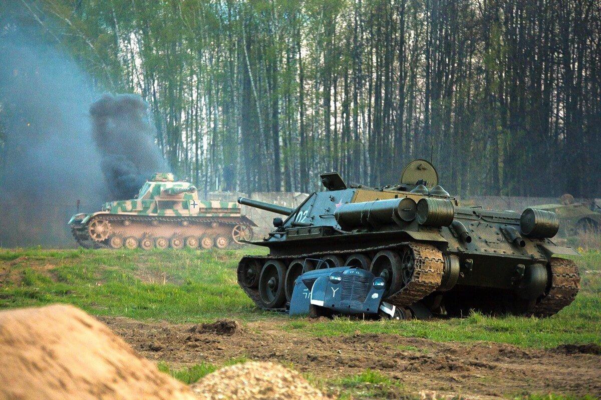 СУ-85 бой