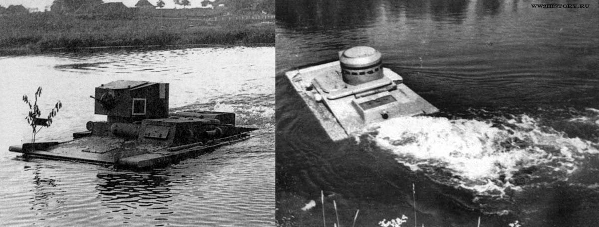 Т-37А плывёт