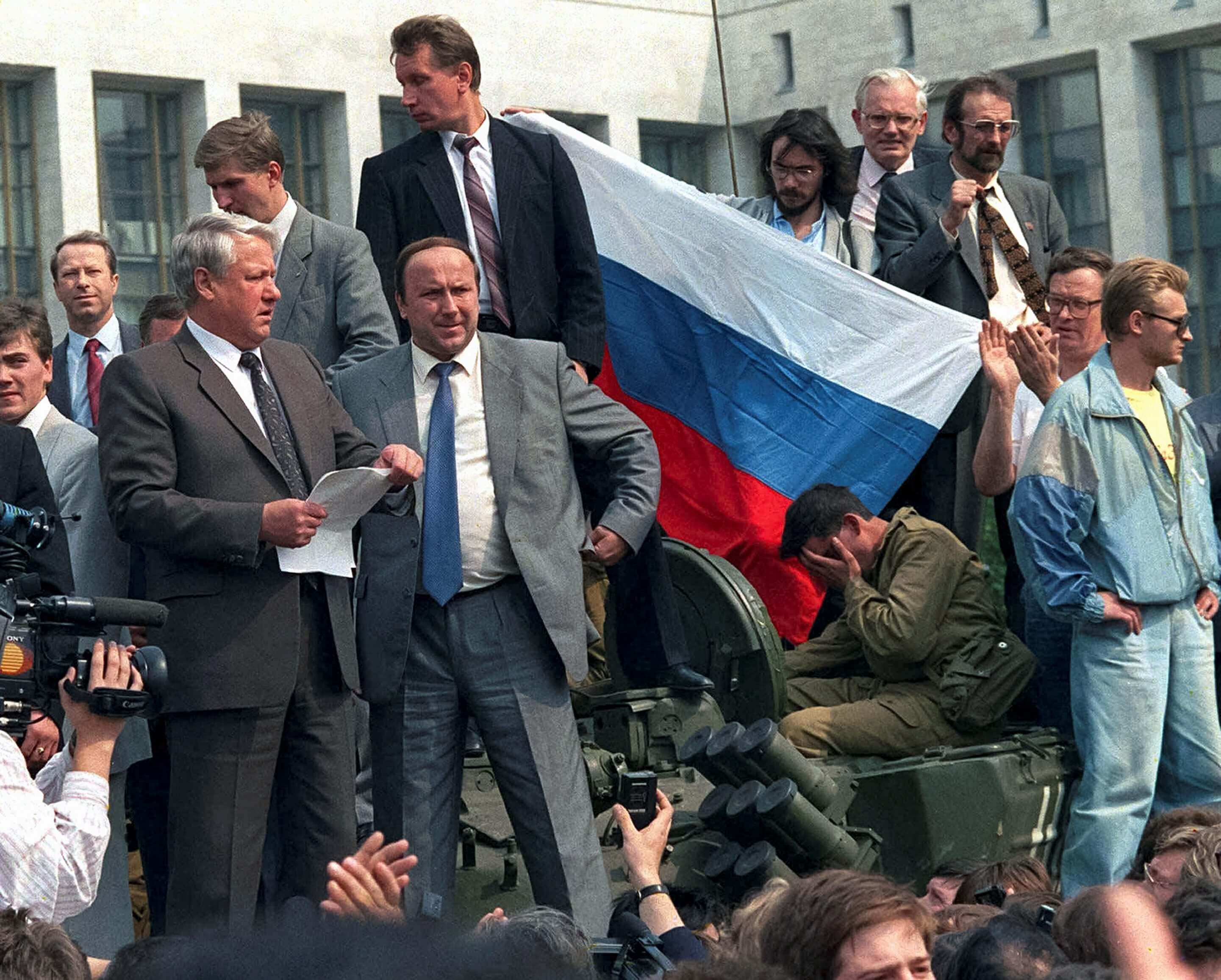 Речь Ельцина с танка