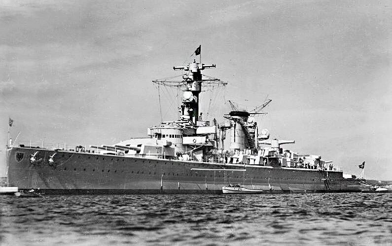 Тяжёлый крейсер «Дойчланд». 1936 г.