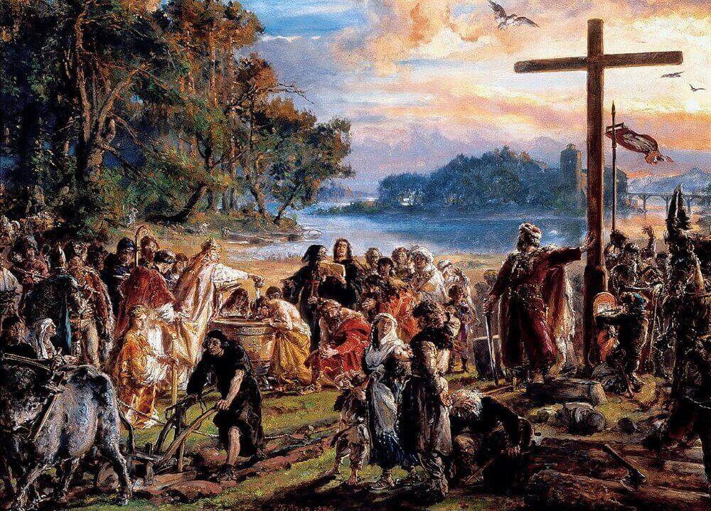 «Крещение Польши». Картина Яна Матейко