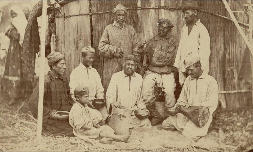 1870-е. Снимок Карла Андреевича Фишера. Башкиры Оренбуржья