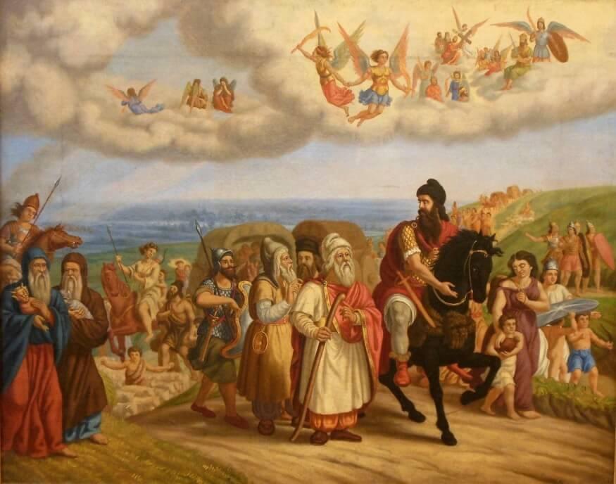 Аспарух и его свита по дороге на Дунай Автор Николай Павлович