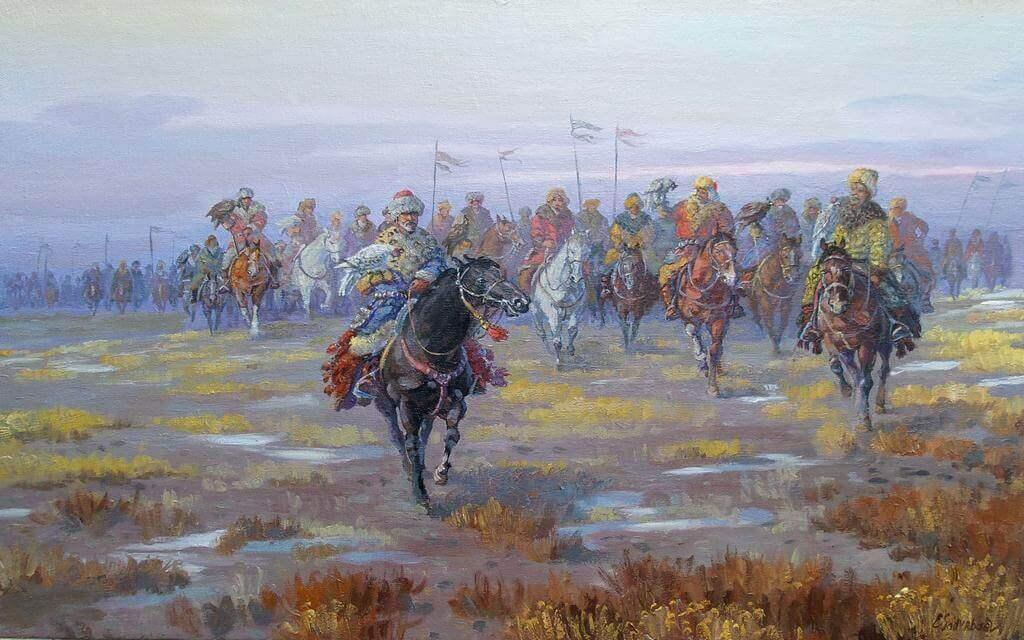 Есенгали Садырбаев «Облавная охота. Кансонар»
