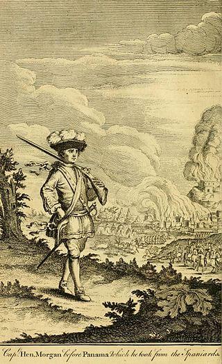 Капитан Генри Морган перед Панамой, 1671 год