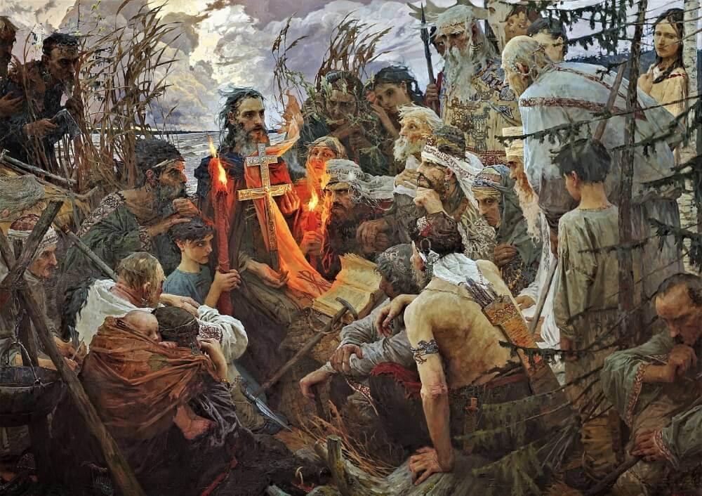 Моргун Е.О. «Св. Леонтий Ростовский проповедует язычникам»