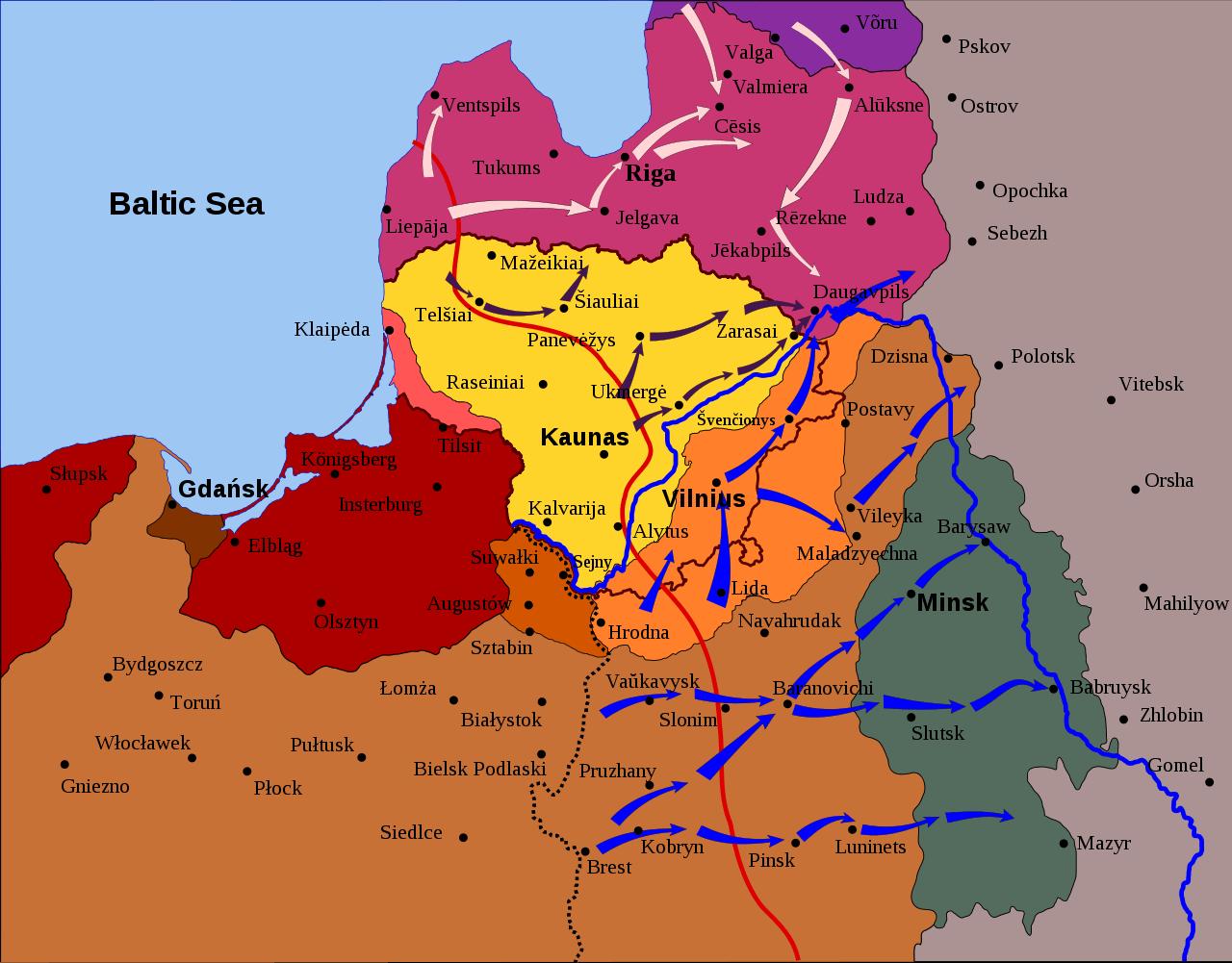 Наступление польских войск, 1919 год
