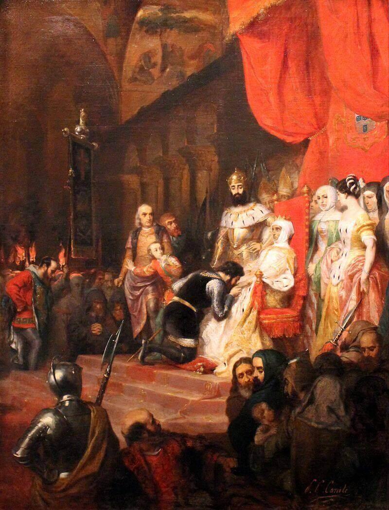 Пьер-Шарль Конт «Коронация Инес де Кастру в 1361 году»