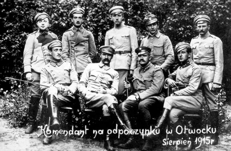 Пилсудский в Отвоцке. 1915