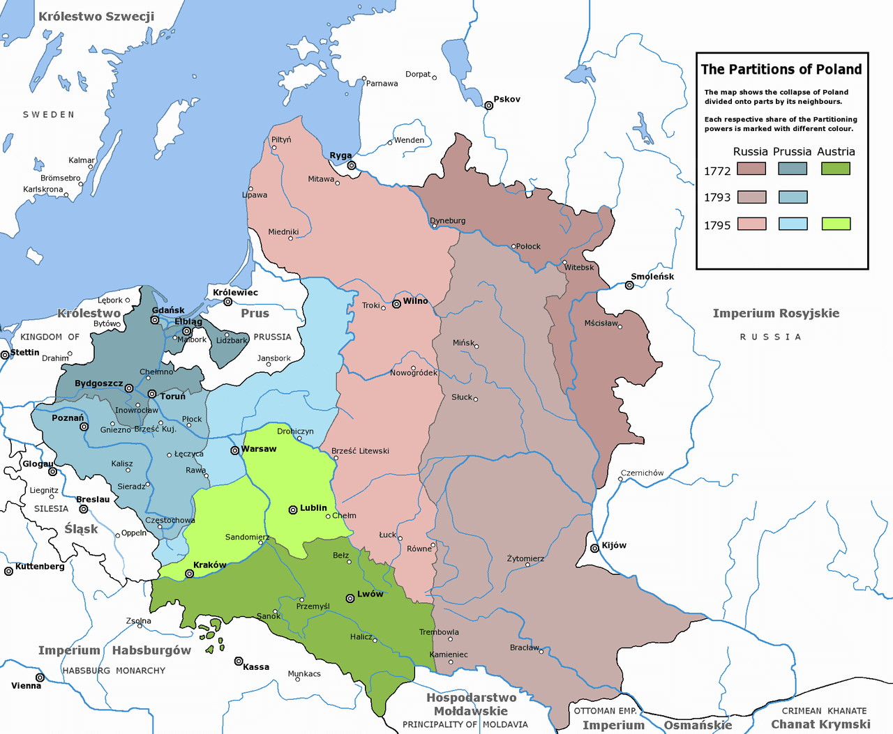 Польша в границах Речи Посполитой