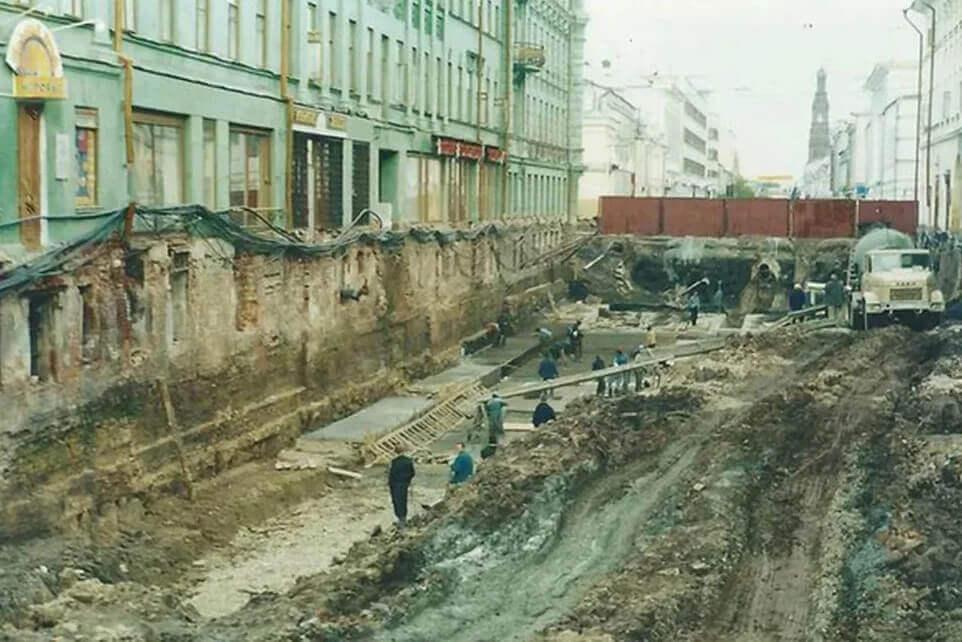 Реконструкция улицы Баумана в Казани