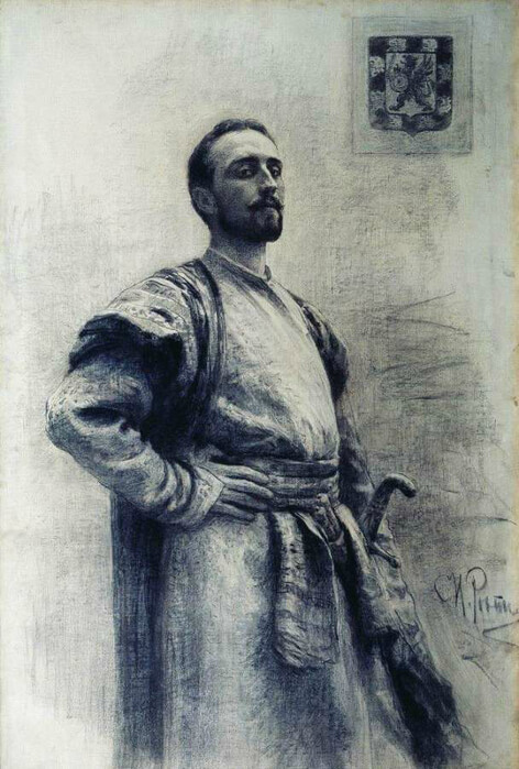 Репин Илья Ефимович «Портрет Федора Никитича Романова».