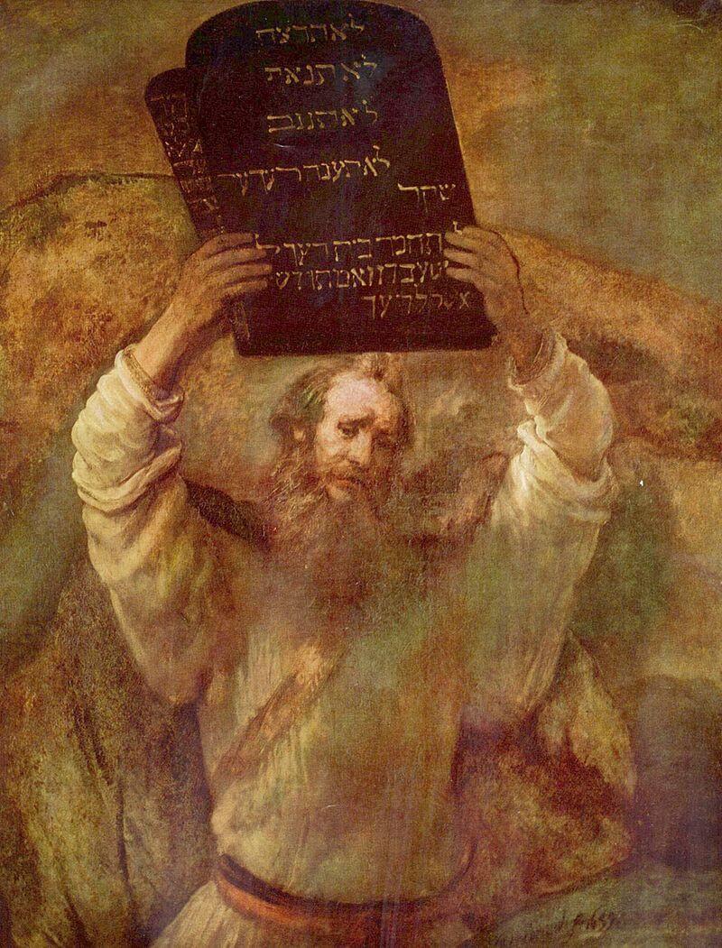 «Моисей, разбивающий Скрижали Завета», Рембрандт,