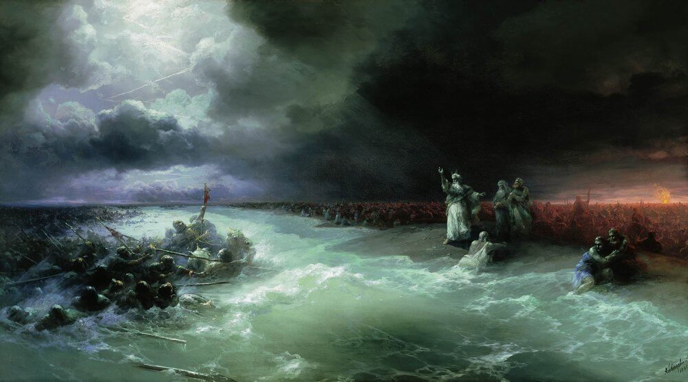«Переход евреев через Красное море», И. К. Айвазовский, 1891 год
