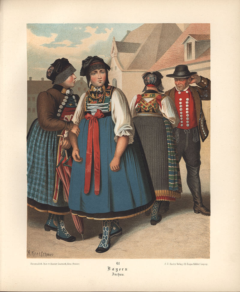 Баварцы в национальных костюмах