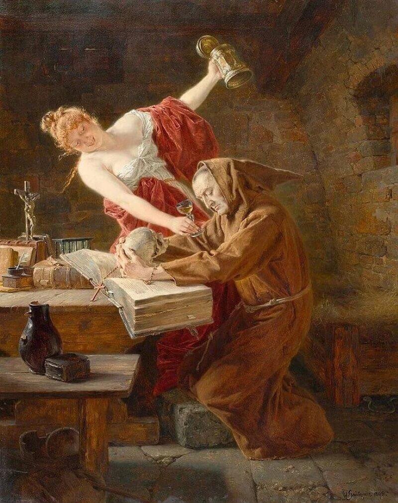 Эдуард фон Грютцнер «Свящий монах»