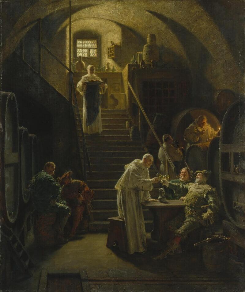 Эдуард Грютцнер «В гостях у монахов»