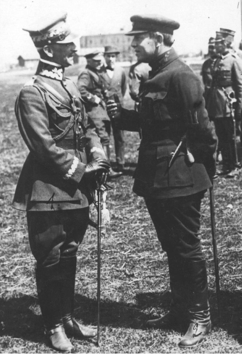 Генерал Антоний Листовский и Симон Петлюра в апреле 1920 года