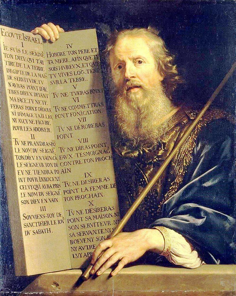 Моисей с Десятью заповедями.