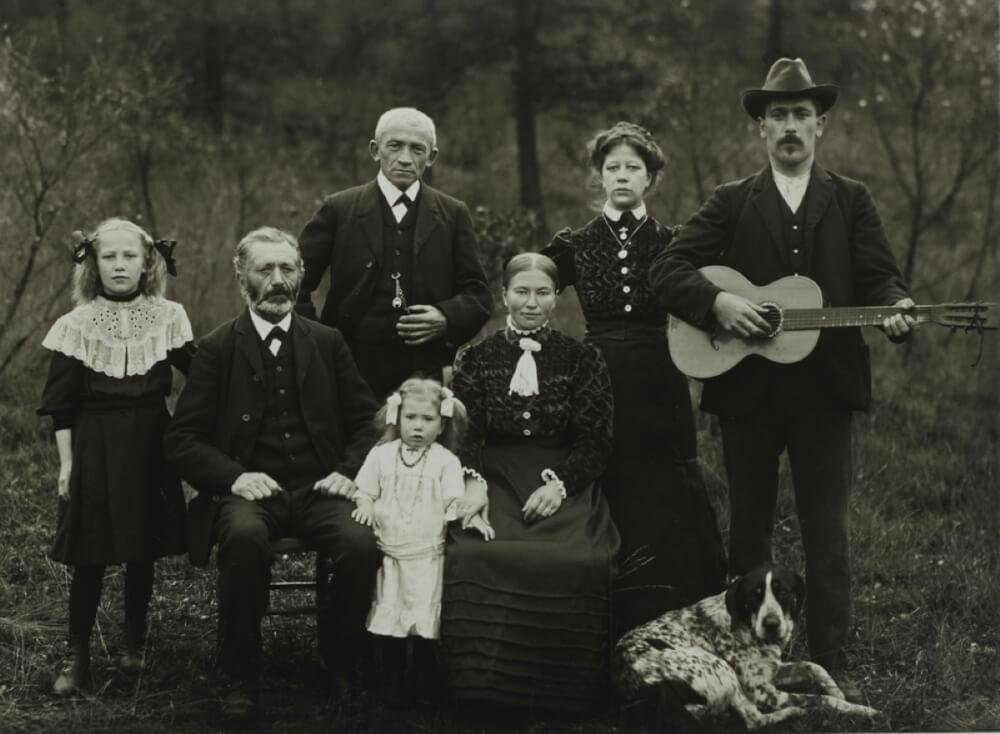 Семья, фермеров, 1912.