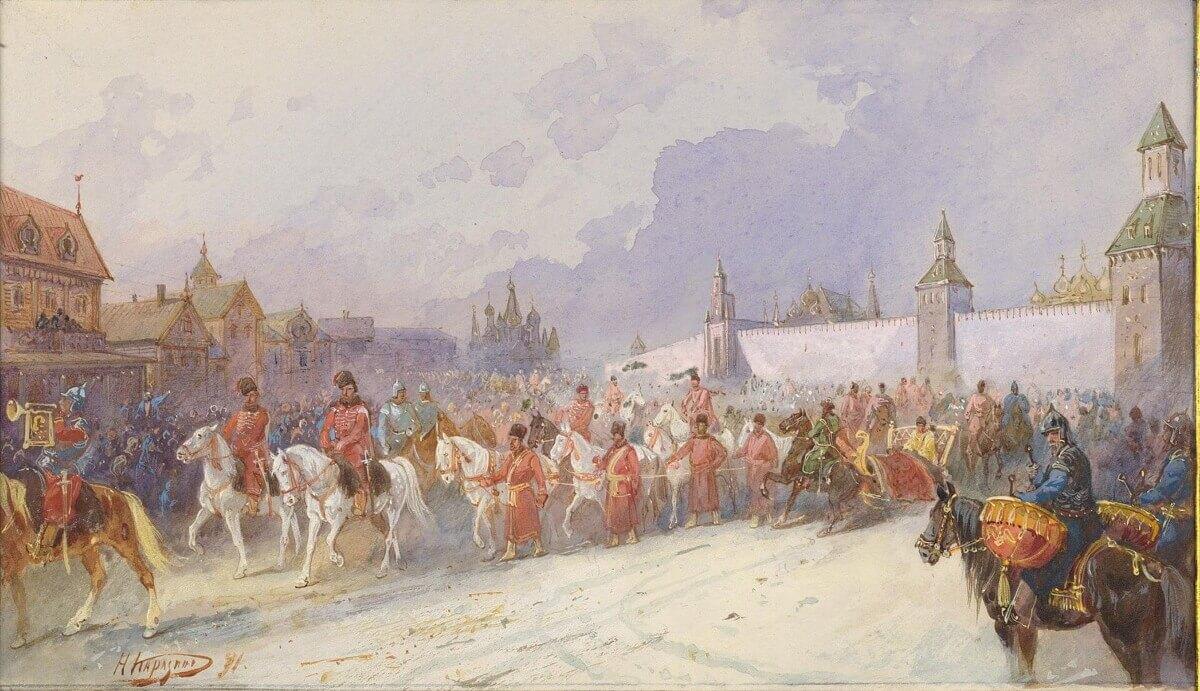 Николай Каразин «Въезд плененного Кучумова семейства в Москву в 1599 году»