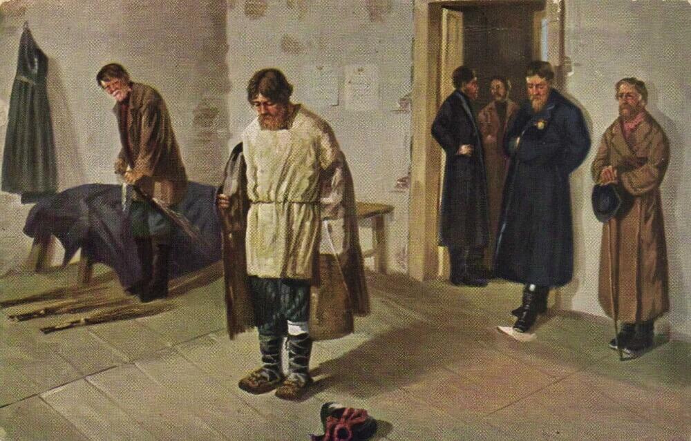 Порка крестьян в 1884 г.
