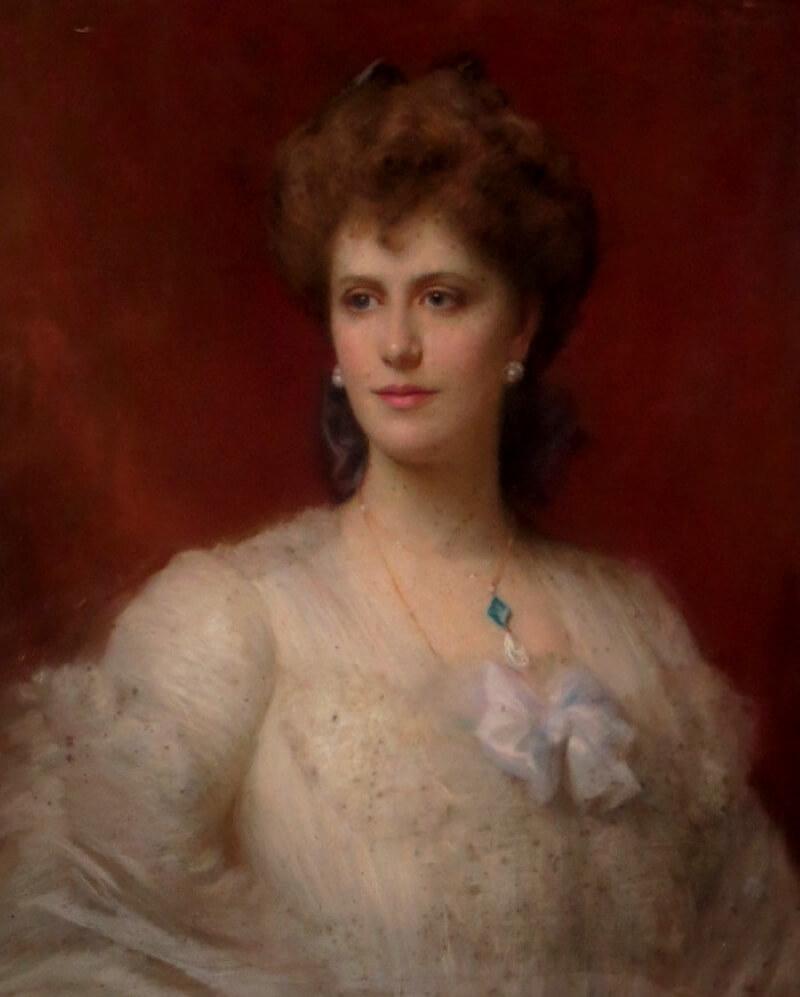 Портрет Алисы Кеппел кисти неизвестного художника, между 1890—1900.