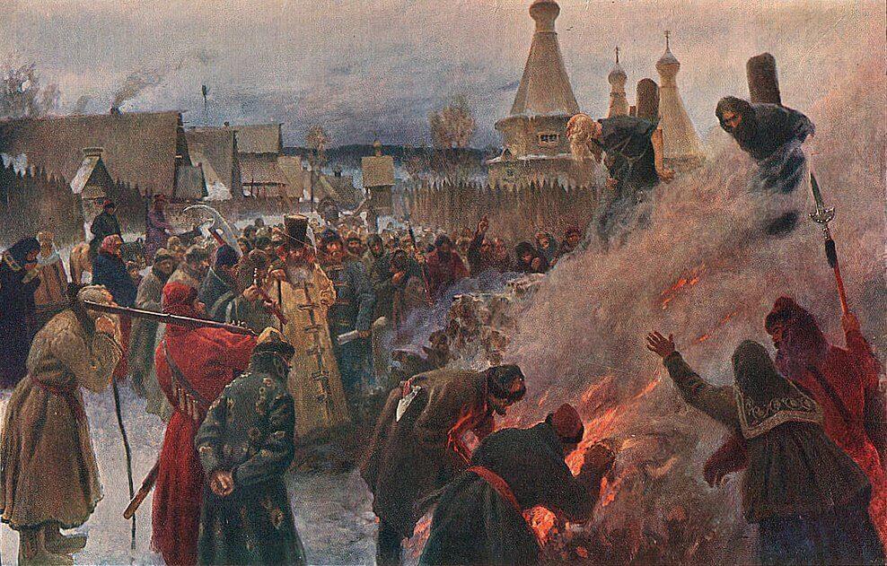 Пётр Мясоедов «Сожжение протопопа Аввакума»