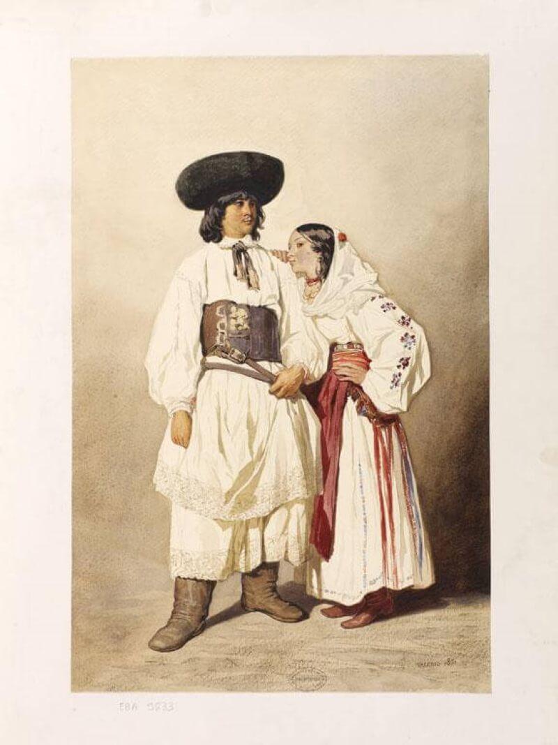 Румынские крестьяне из окрестностей Лугоса