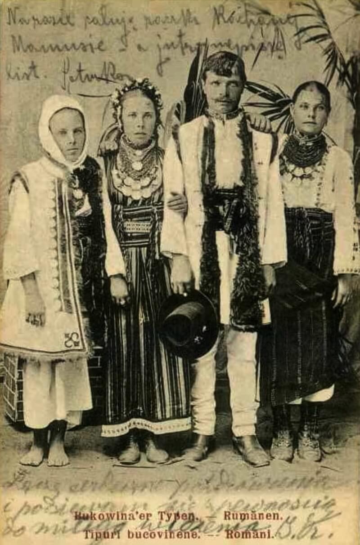 Румыны из Буковины, старая открытка.