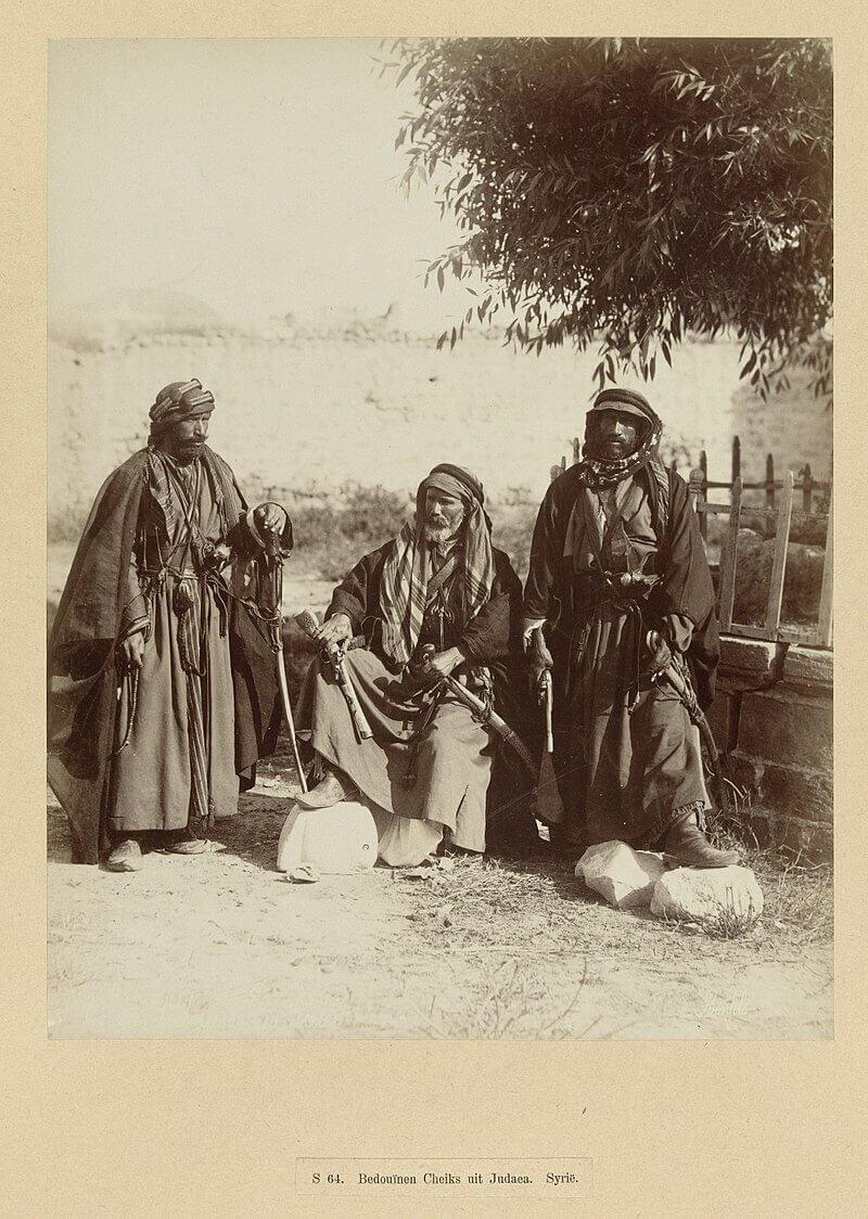 Три шейха-бедуина. Иудея, Сирия