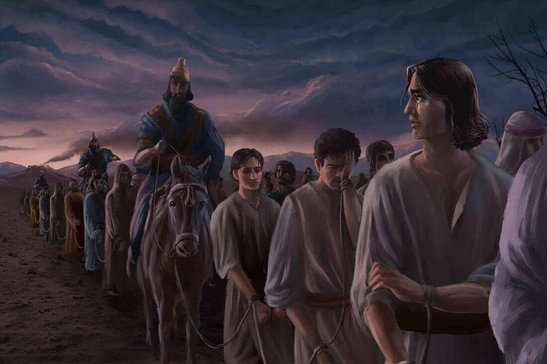 Даниил (пророк) оглядывается на разрушенный Иерусалим / © Caleb Jasper Lumingkit / caleb_jsper.artstation.com
